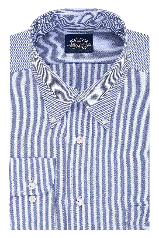 Eagle Mens BIG FIT Dress Shirts Non Iron Stretch Collar Stripe Big and Tall