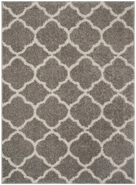 Safavieh Safavieh Safavieh Yasmin Shag Teppich,Polyester Baumwolle, Hell Grau Ivory,154 X 228 X 2.9972 cm B073Q7BBX7 Teppiche f62d17