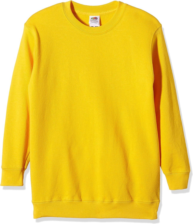 Fruit of the Loom Childrens Big Boys Set in Sleeve Sweatshirt