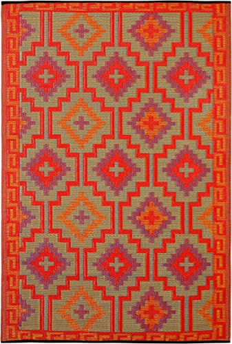 Fab Habitat Reversible Rugs Indoor or Outdoor Use Stain Resistant