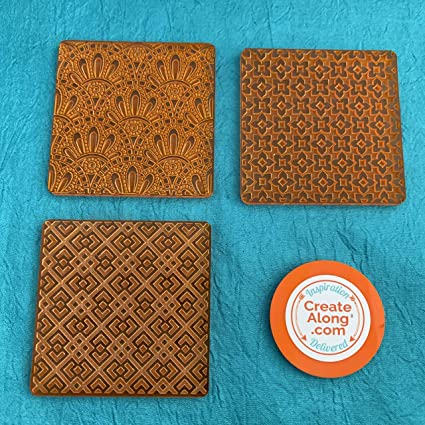 Deco Disc Miami Vibes Tiles Stamp and Texture Pattern Designs for Polymer Clay