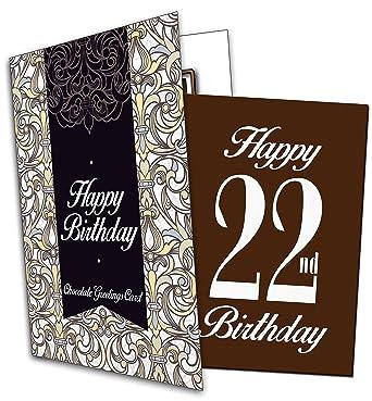 Happy 22nd Birthday Chocolate Greeting Card Amazon Grocery