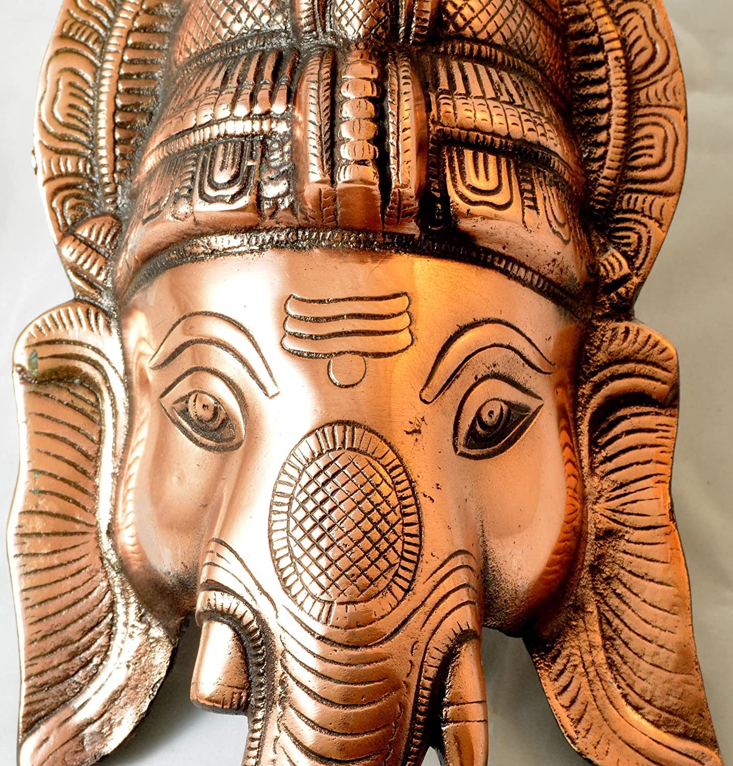 Amazon Ganesh Head 15 Inches Wall Door Hanging With Copper