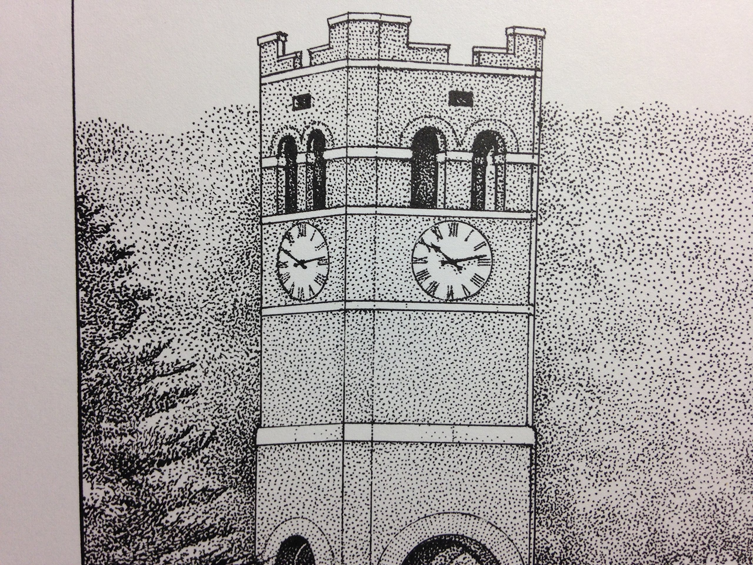 Western Carolina University - Bell Tower 11''x14'' pen and ink print by Campus Scenes (Image #2)