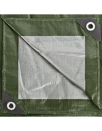 GardenMate 2x3m 140g/m2 Lona de protección prémium verde/plata - Funda protectora -