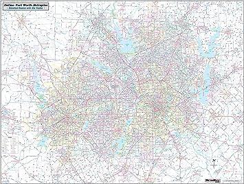 Amazon Com Dallas Ft Worth Arlington Metroplex Wall Map 58 X44