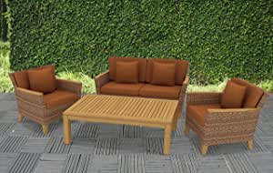POLYNESIA Teak 4pc Seating Set Furniture