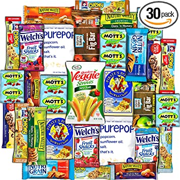 Amazon Com Collegebox Healthy Snacks 30 Count Care Package Variety