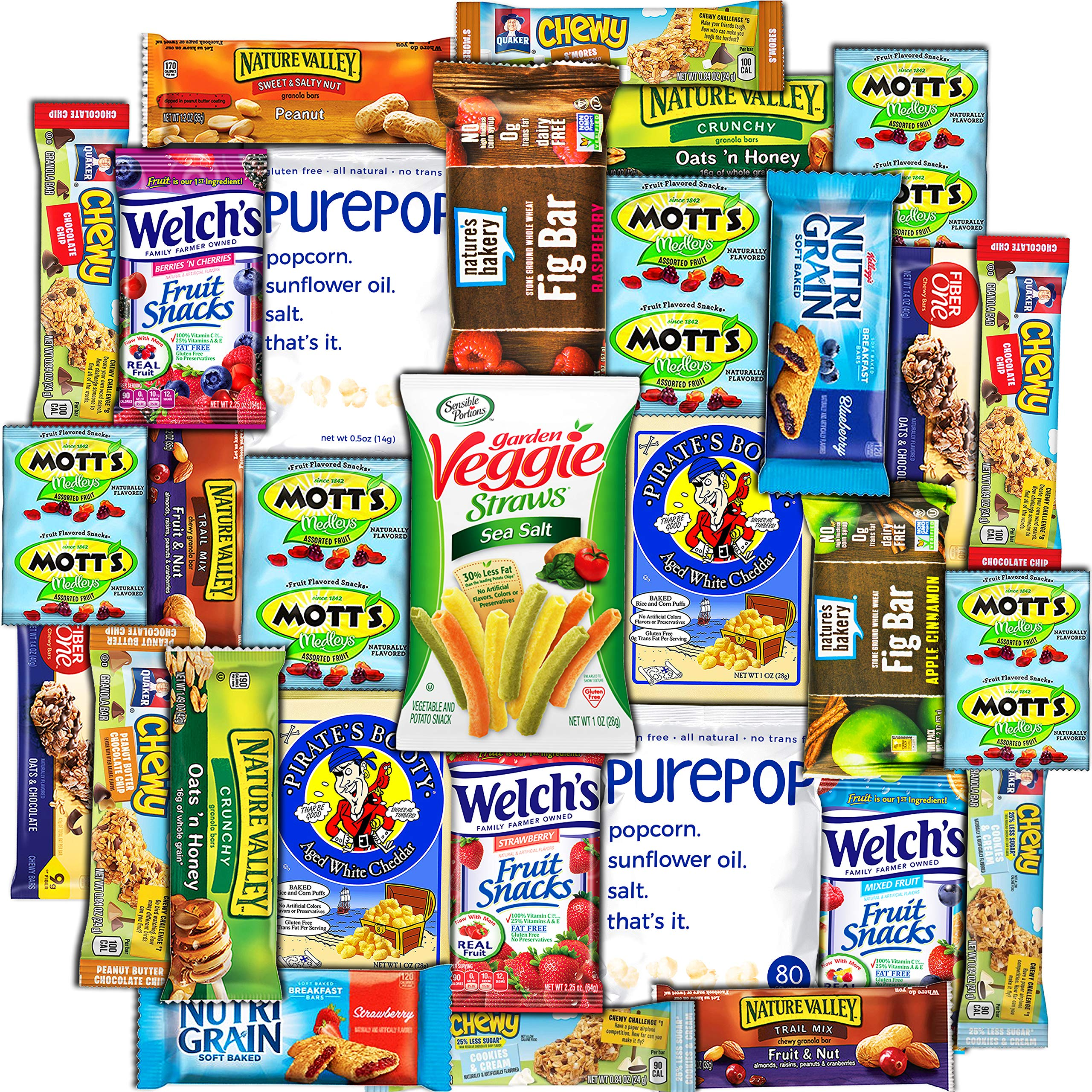 CollegeBox - Healthy College Care Package (30ct) - Granola bars, fruits snacks, popcorn, veggie chips, and more! Variety Assortment Bundle by CollegeBox