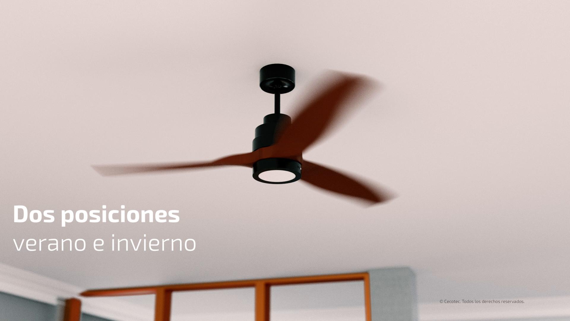 Cecotec Ventilador de Techo EnergySilence Aero 3000. Luz LED, 3 ...