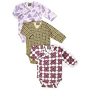 Kate Quinn Organics Unisex-Baby Organic Triple Wrap Set, 0-3M (Forest, Gramercy, Bloom)