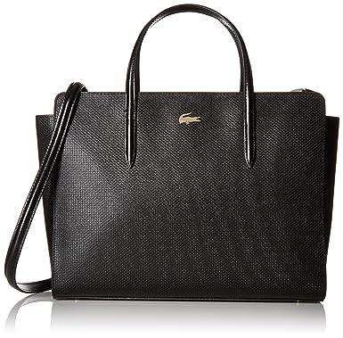 85fd2800e91 Lacoste Chantaco Shopping Bag, black: Handbags: Amazon.com