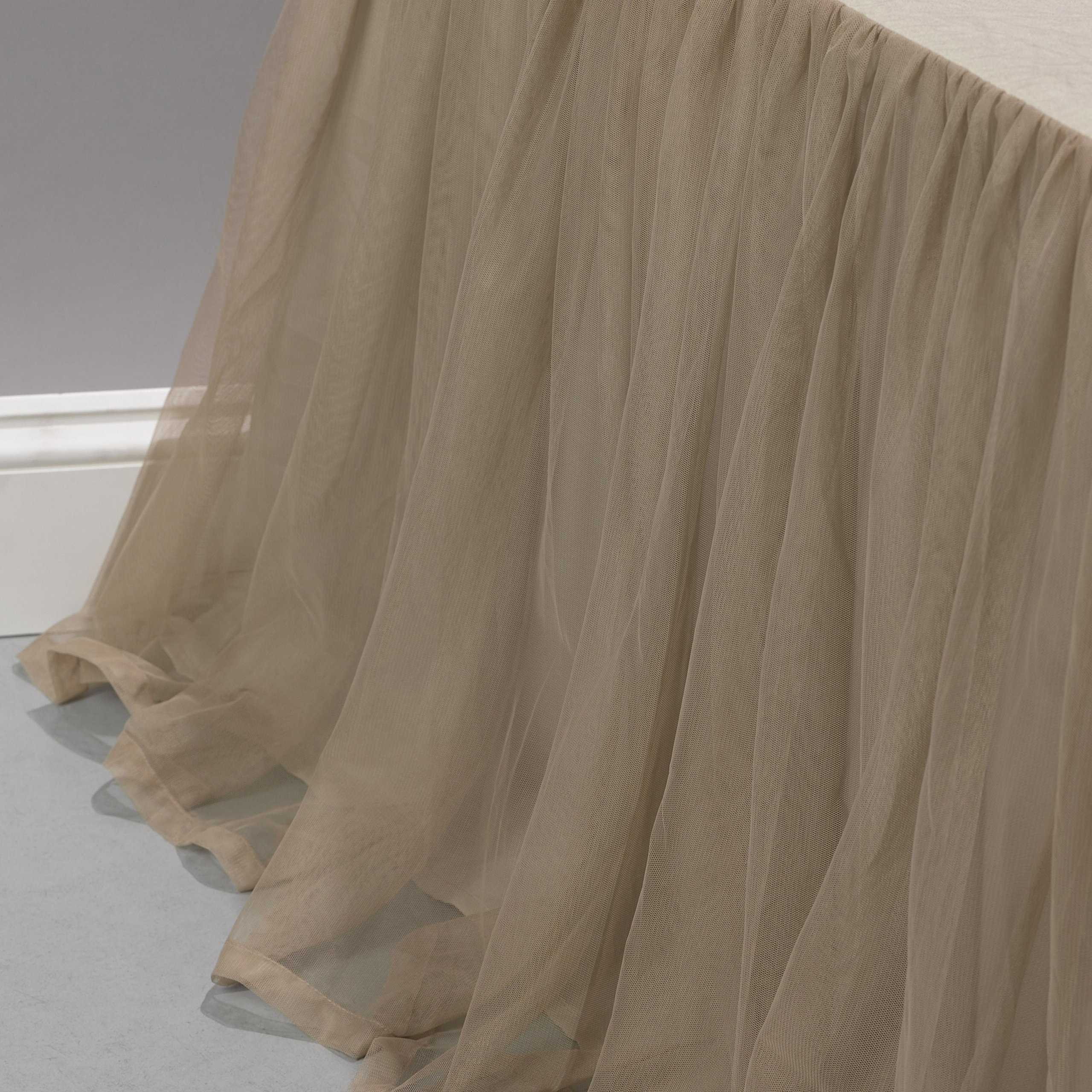 Couture Dreams Whisper Bed Skirt, Sable, King by Couture Dreams