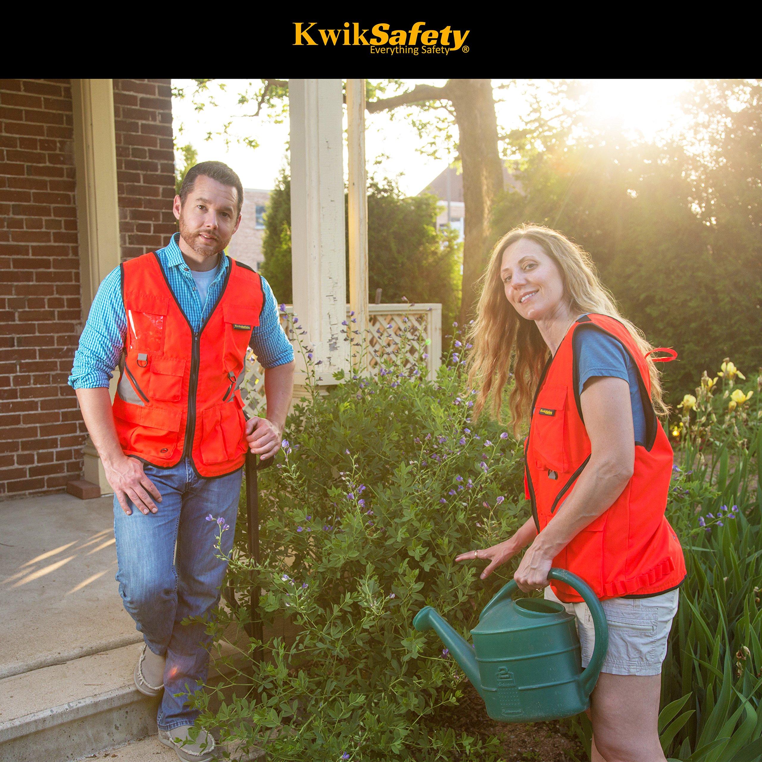 KwikSafety (Charlotte, NC) ARTISAN Tool Vest | Reflective Multi Pocket Lightweight Work Wear | Hi Vis Volunteer Emergency Crew Surveyor Carpenter Electrician Engineer | Men Women Regular | 4XL/5XL by KwikSafety (Image #6)