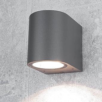 Design Außenstrahleraalborg In Anthrazit 1x Gu10 Bis 35 Watt Ip44 Aussen Leuchte Wand Lampe Down Für Hauswand Garten Hof