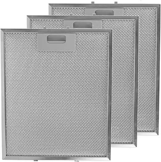 Spares2go - Filtros de grasa universales para campana extractora de cocina, rejilla de metal, 3 unidades, 300 x 250 mm, color plateado: Amazon.es: Hogar