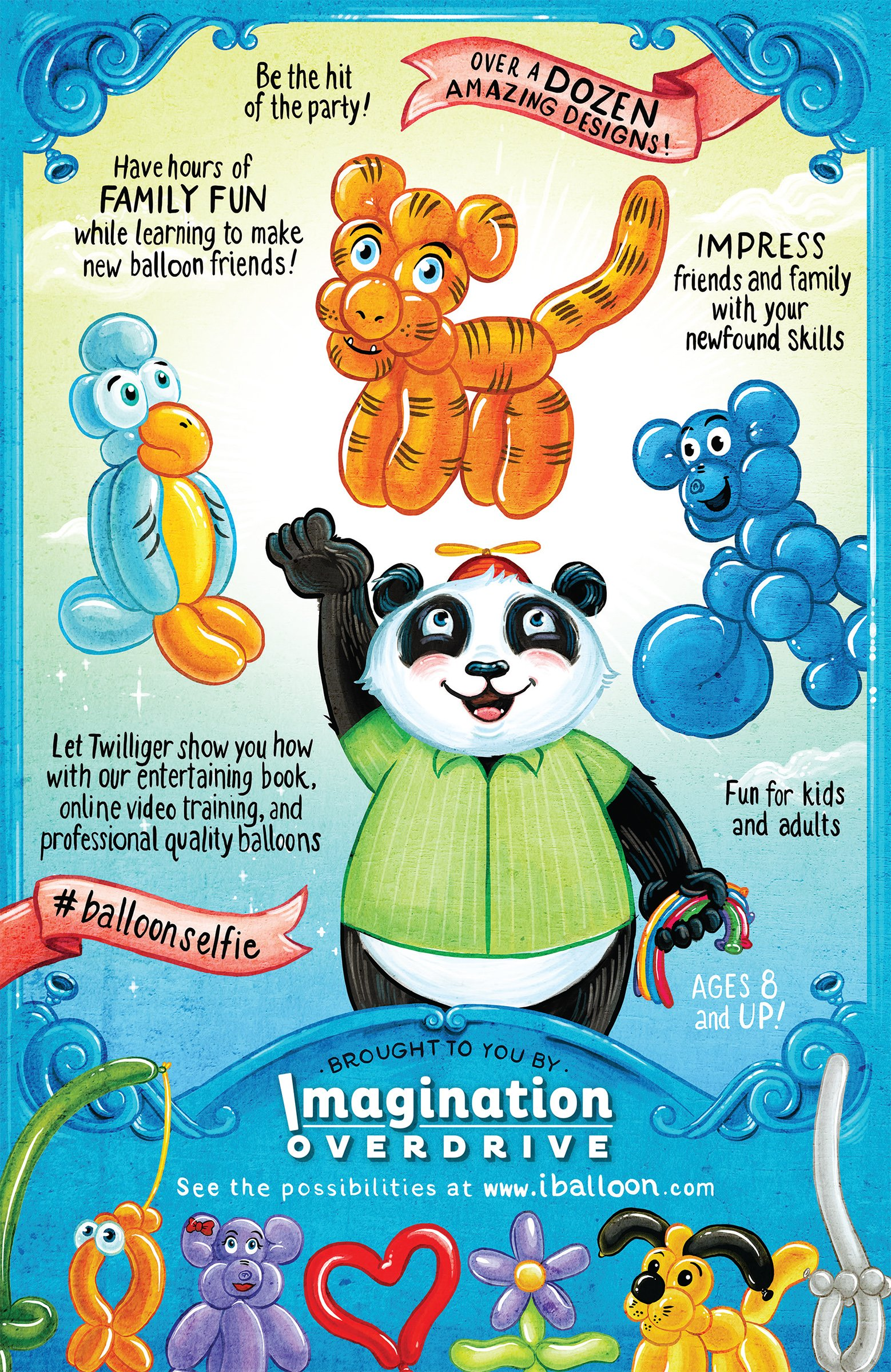 Balloon Animal University PRO Kit with 100 balloons, Now With NEW Sculptures! How-To Videos, Qualatex Balloons, Pump, Instruction Book. Learn to Make Balloon Animals Fun Party Activity Holiday Gift by Imagination Overdrive (Image #4)