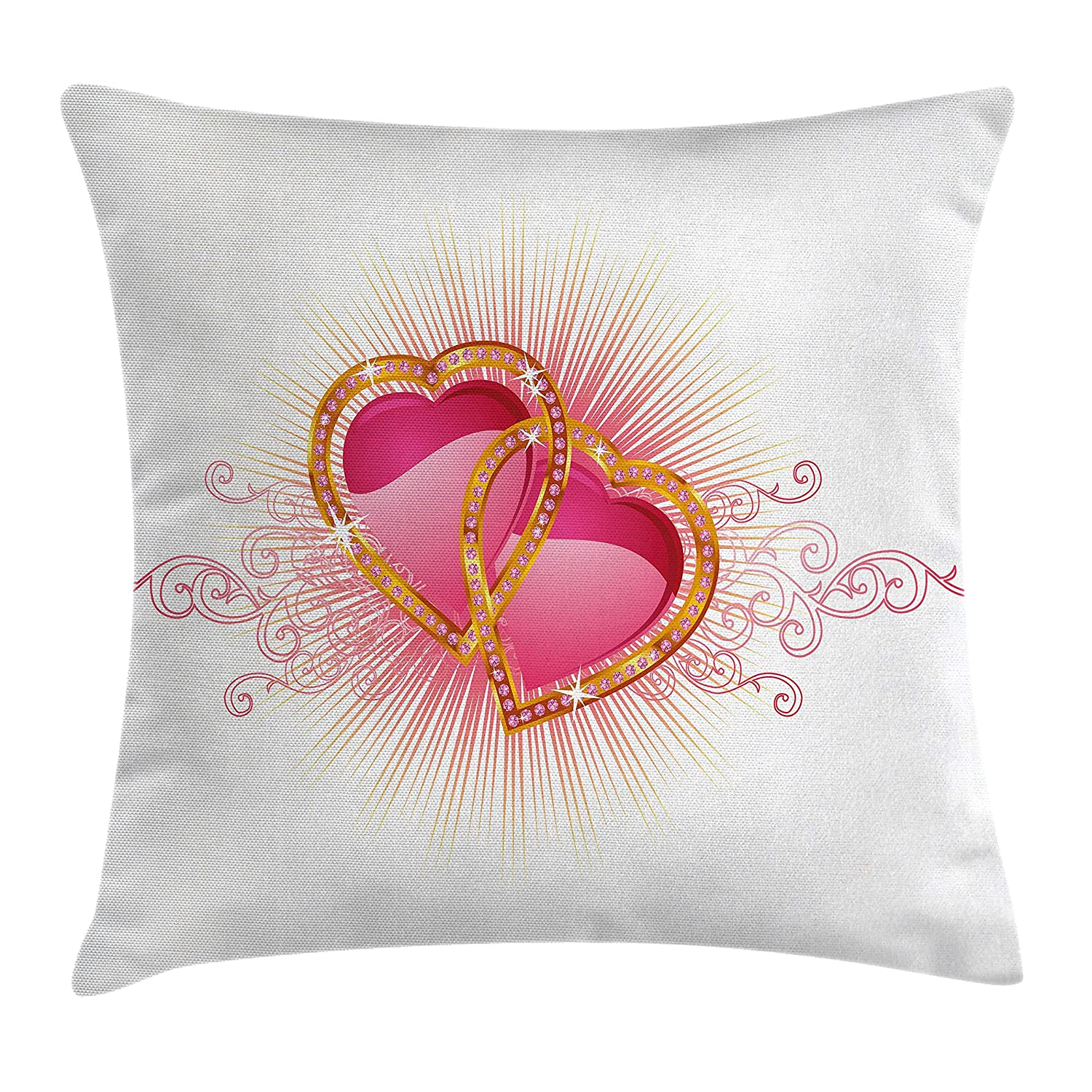 Amazon.com: Ambesonne Engagement Party Throw Pillow Cushion Cover ...