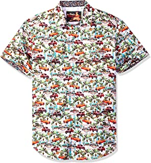 0f6852bb Robert Graham Men's Old Havana Short Sleeve Classic Fit Shirt