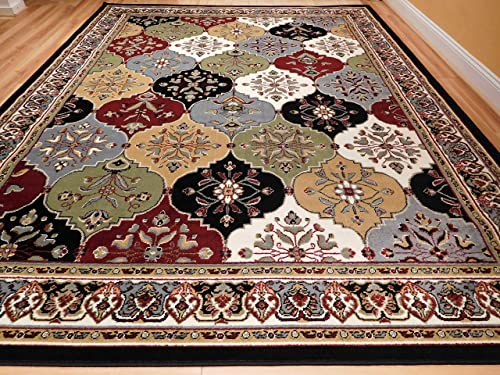 Large Rugs Living Room 8 x11 Multicolor Red Blue Cream Green 8×10 Area Rugs Kitchen Floor Rugs 8×11