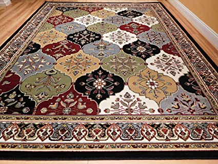 Large Rugs For Living Room Cheap 8u0027x11u0027 MultiColor Red Blue Cream Green 8x10