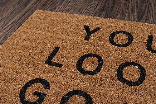 Novogratz Aloha Collection You Look Good Doormat, 1 6 x 2 6 , Natural Brown