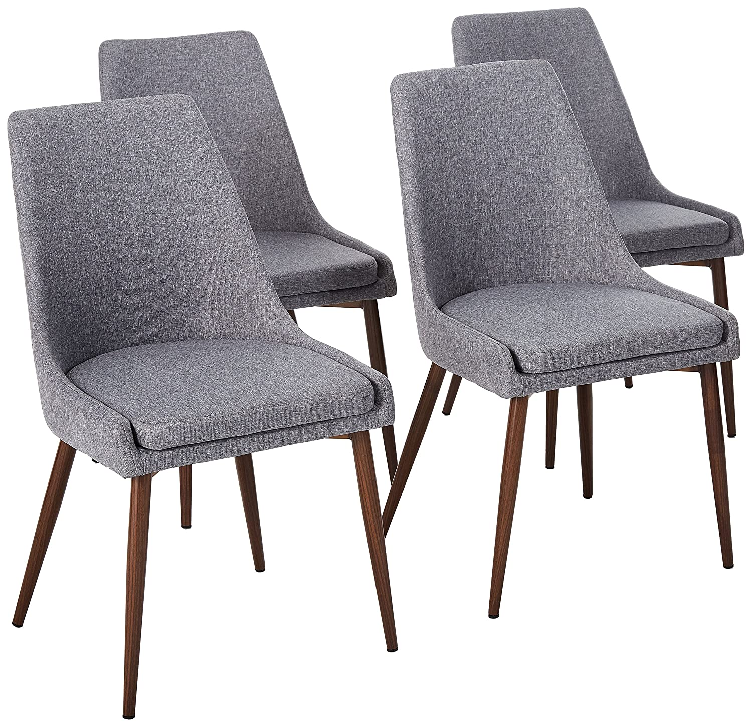 POLY BARK Ethen Dining Chair, Set of 4, Gray
