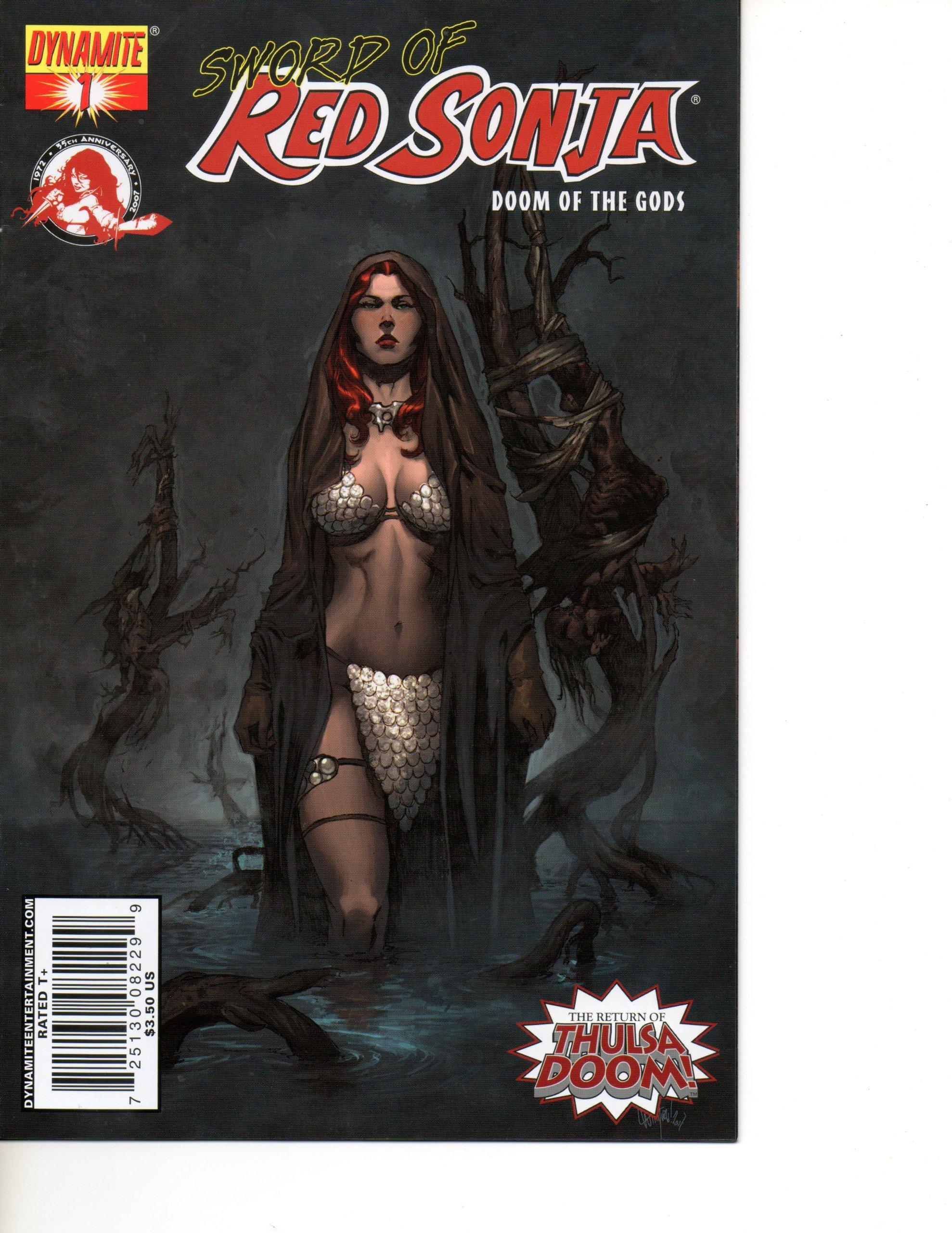 Read Online Red Sonja #1 Complete Mini Series (Sword Of - Doom Of The Gods) ebook