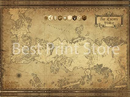 photo about Printable Map of Westeros named Least difficult Print Shop - Recreation of Thrones Motivated - Westeros and Essos Map Poster, Revision 3/18/2019 (24x36 inches)