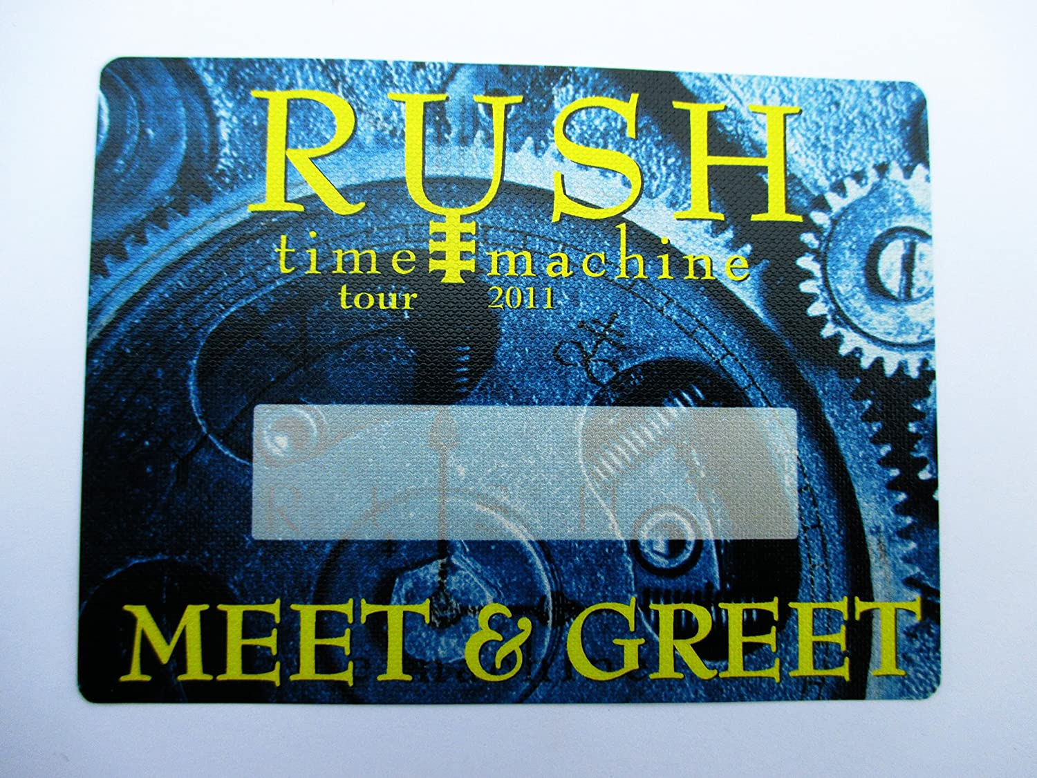 2011 Rush Satin Backstage Pass Time Machine Tour Meet & Greet Blue