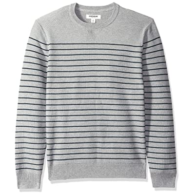 Amazon Brand - Goodthreads Men's Soft Cotton Striped Crewneck Sweater: Clothing
