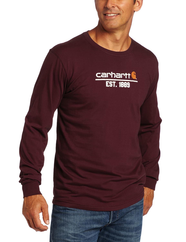69990d0e87af Carhartt Men's Classic Logo Long Sleeve T-Shirt Relaxed Fit | Amazon.com