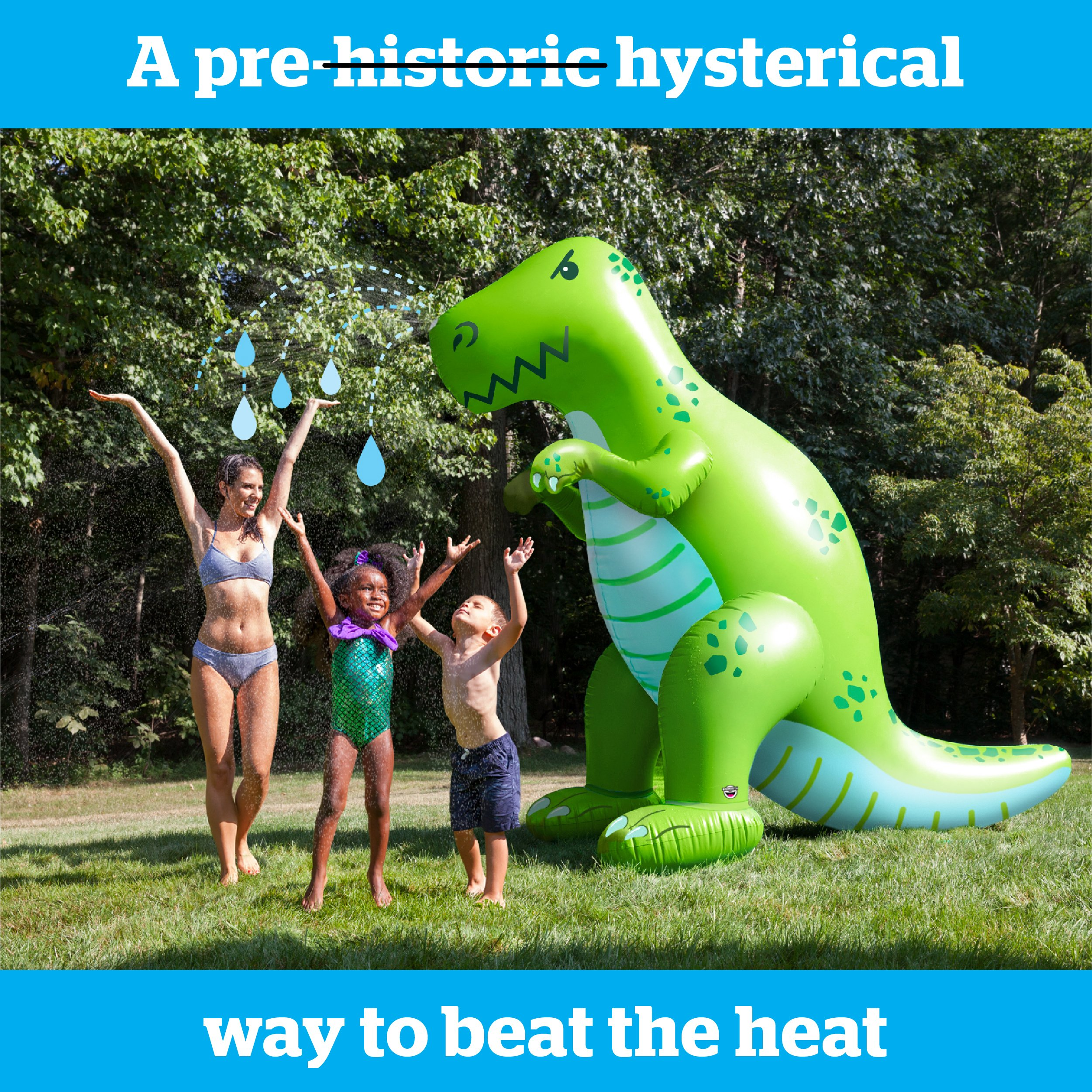 BigMouth Inc. Ginormous Inflatable Green Dinosaur Yard Summer Sprinkler, Stands Over 6 Feet Tall, Perfect for Summer Fun by BigMouth Inc (Image #2)