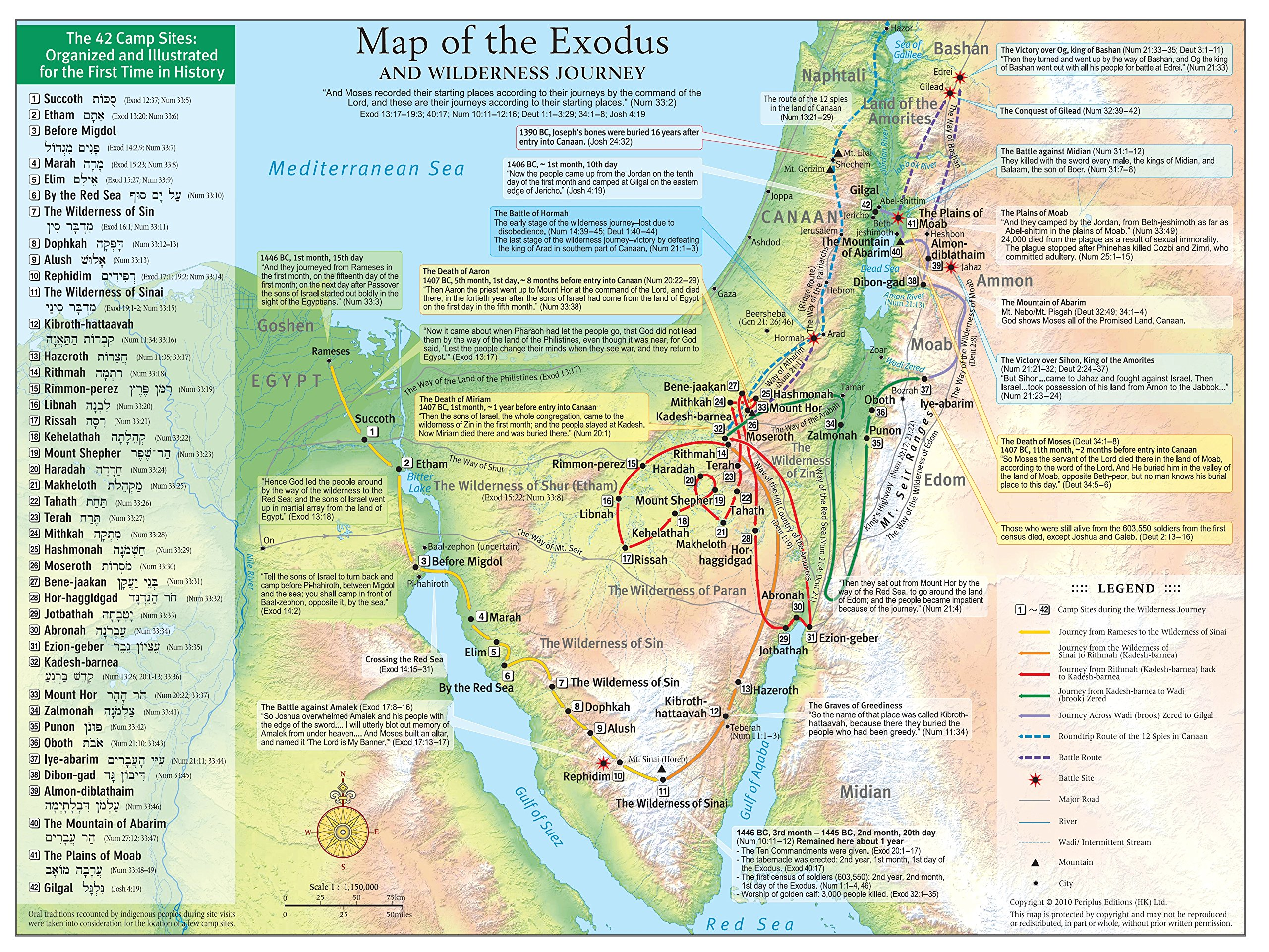 Map of the Exodus and Wilderness Journey: The 42 Camp Sites Organized and  Illustrated for the First Time in History (History Of Redemption): Abraham  Park: ...