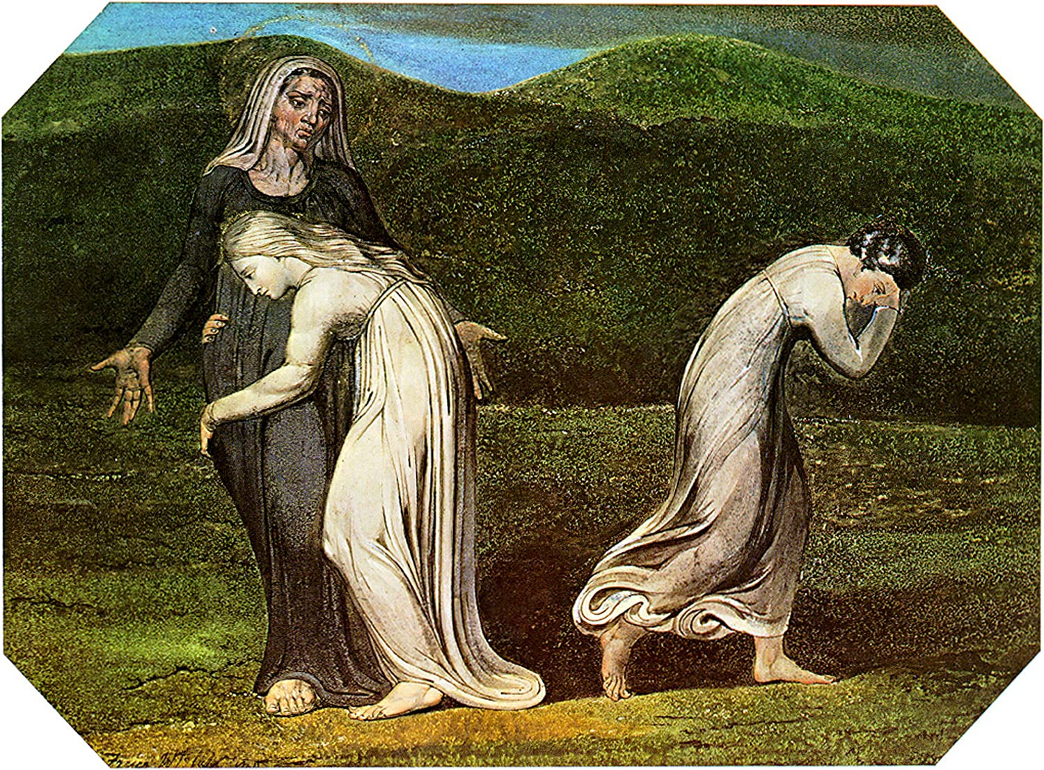 Naomi entreating Ruth and Orpah to Return to The Land of Moab (William Blake)