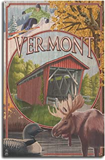 product image for Lantern Press Vermont Scenes (10x15 Wood Wall Sign, Wall Decor Ready to Hang)