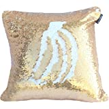 Livedeal Reversible Sequins Mermaid Pillow Cases 40*40cm Gold and White