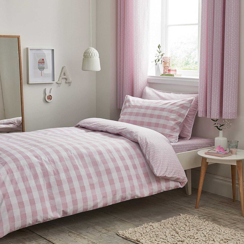 Bianca Gingham Pink Funda nórdica, 100% algodón, 180x220+50x125, 2 ...