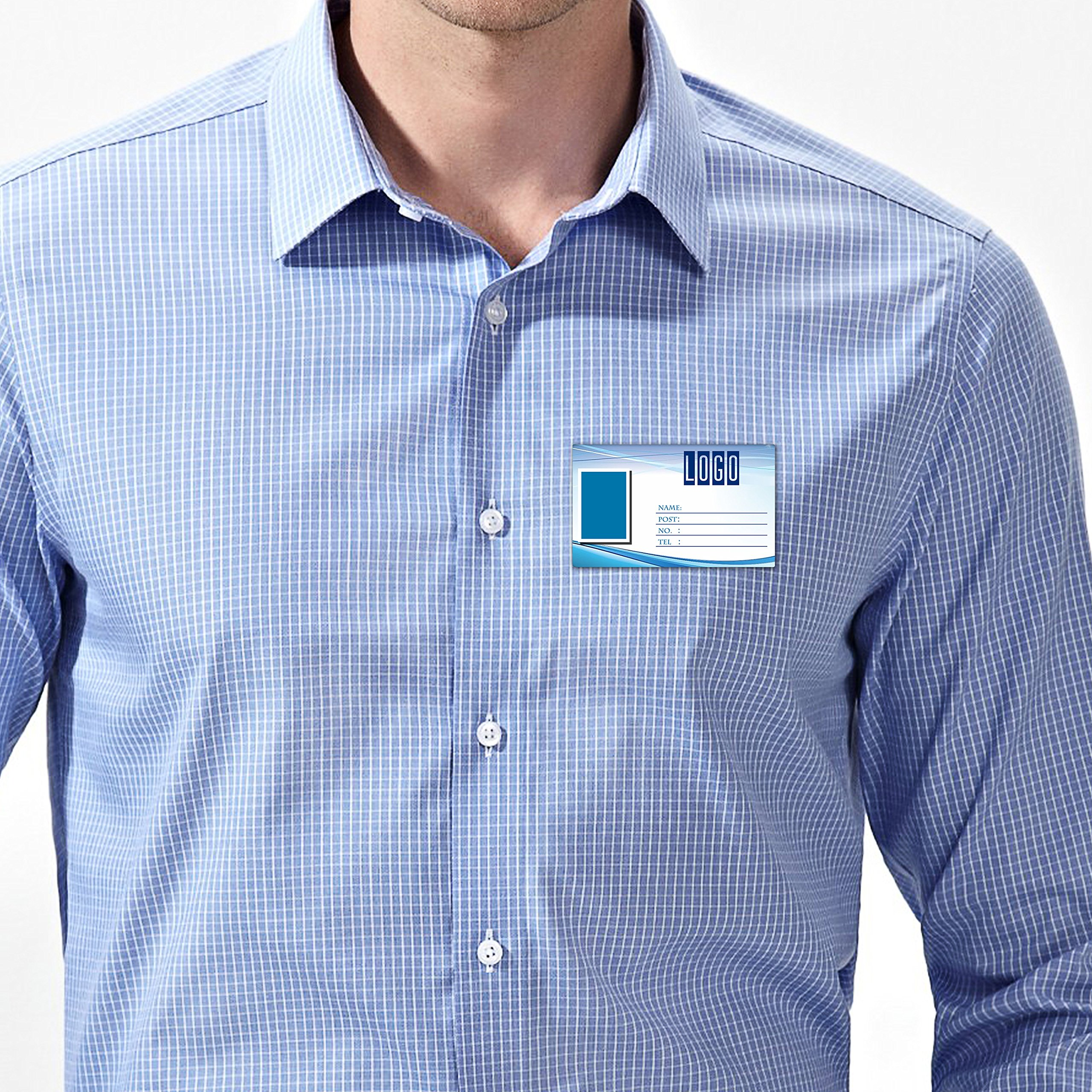 DIY Name Badges, Wisdompro 20 Set White Printable Blank PVC Badges (3-3/8'' x 2-1/8'') with Magnetic Name Tag For Jacket, Lapel,or Shirt - No Holes in your Fine Jackets or Shirts by Wisdompro (Image #6)