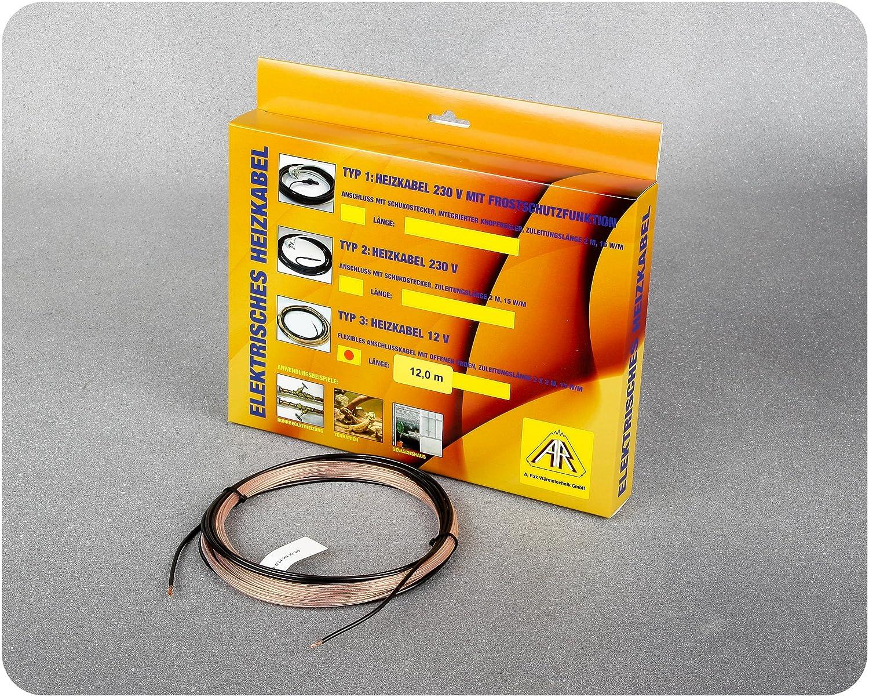 RMS Heating System - Cable calefactor anticongelació n (5 m, 12 V) A.Rak Wärmetechnik GmbH 625830