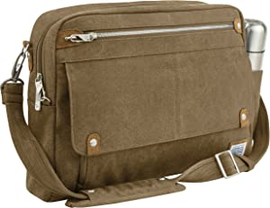 Travelon Anti-theft Heritage Messenger Briefcase, Oatmeal, One Size