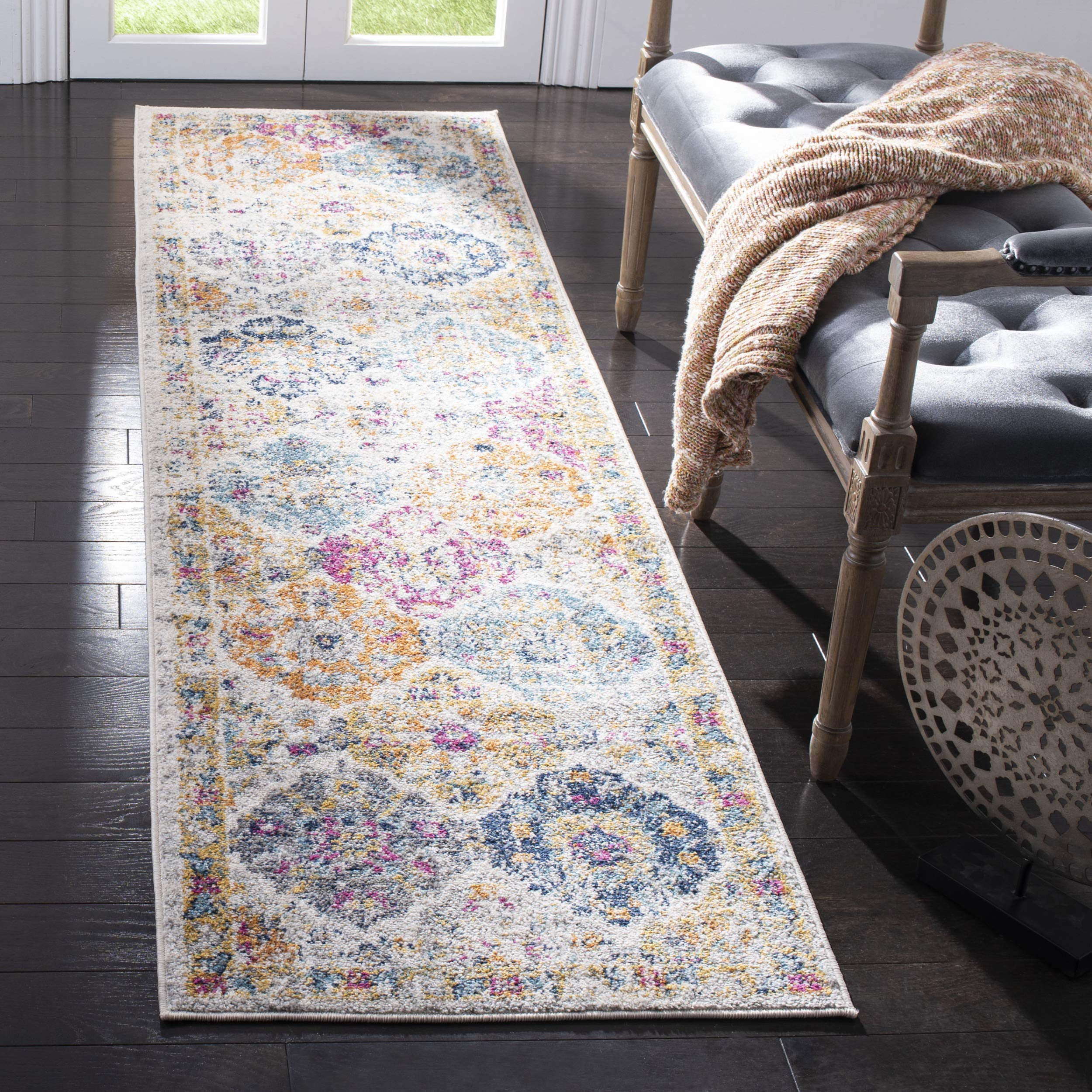 ae1d0d86635 Safavieh Madison Collection Cream Multicolored Bohemian Chic Distressed Rug
