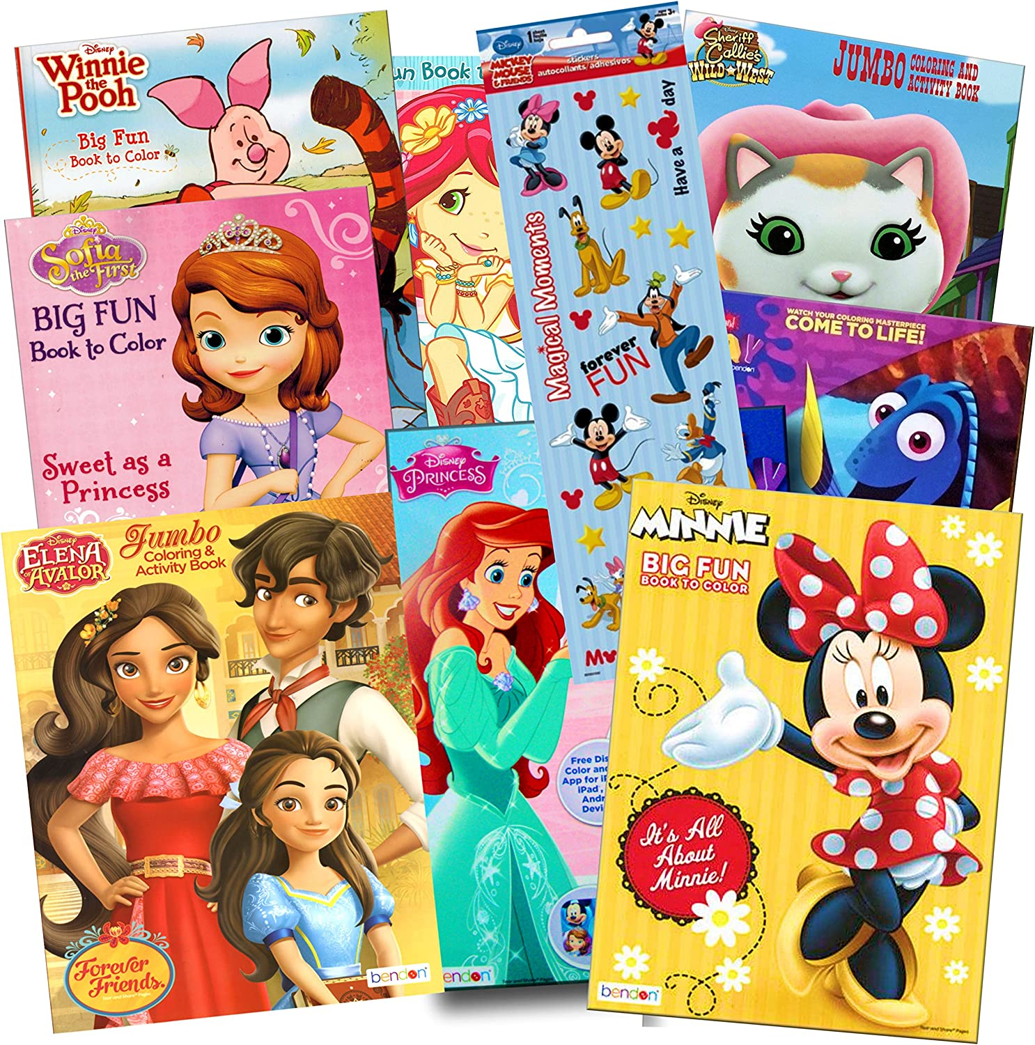- Amazon.com: Disney Coloring Books For Kids Toddlers Bulk Set