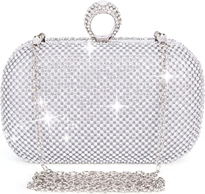 Evening Bag Clutch Purses for Women,iSbaby Ladies Sparkling Party Handbag Wedding Bag