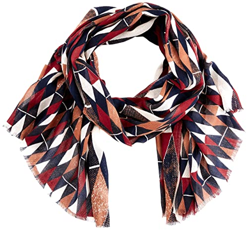 United Colors of Benetton Scarf, Bufanda para Mujer, Multicolor (Multicolor Black, White, Red, Brown...