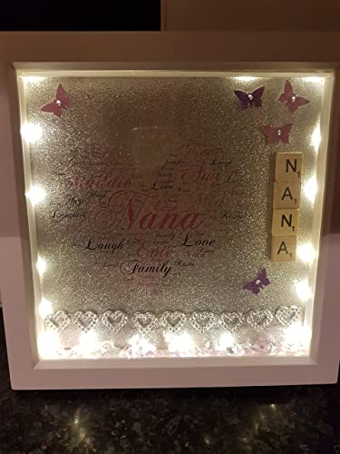 Light Up Personalised Deep Box Glittered Framemakes A Lovely