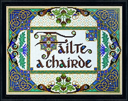 "14 Count Charted Cross Stitch Kit/""Welcome/"" 33x31cm"
