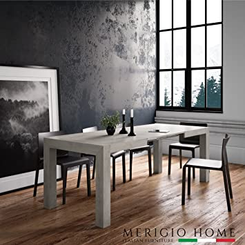 MerigioHome Extending Table Concrete Modern Kitchen Console - Extendable concrete dining table