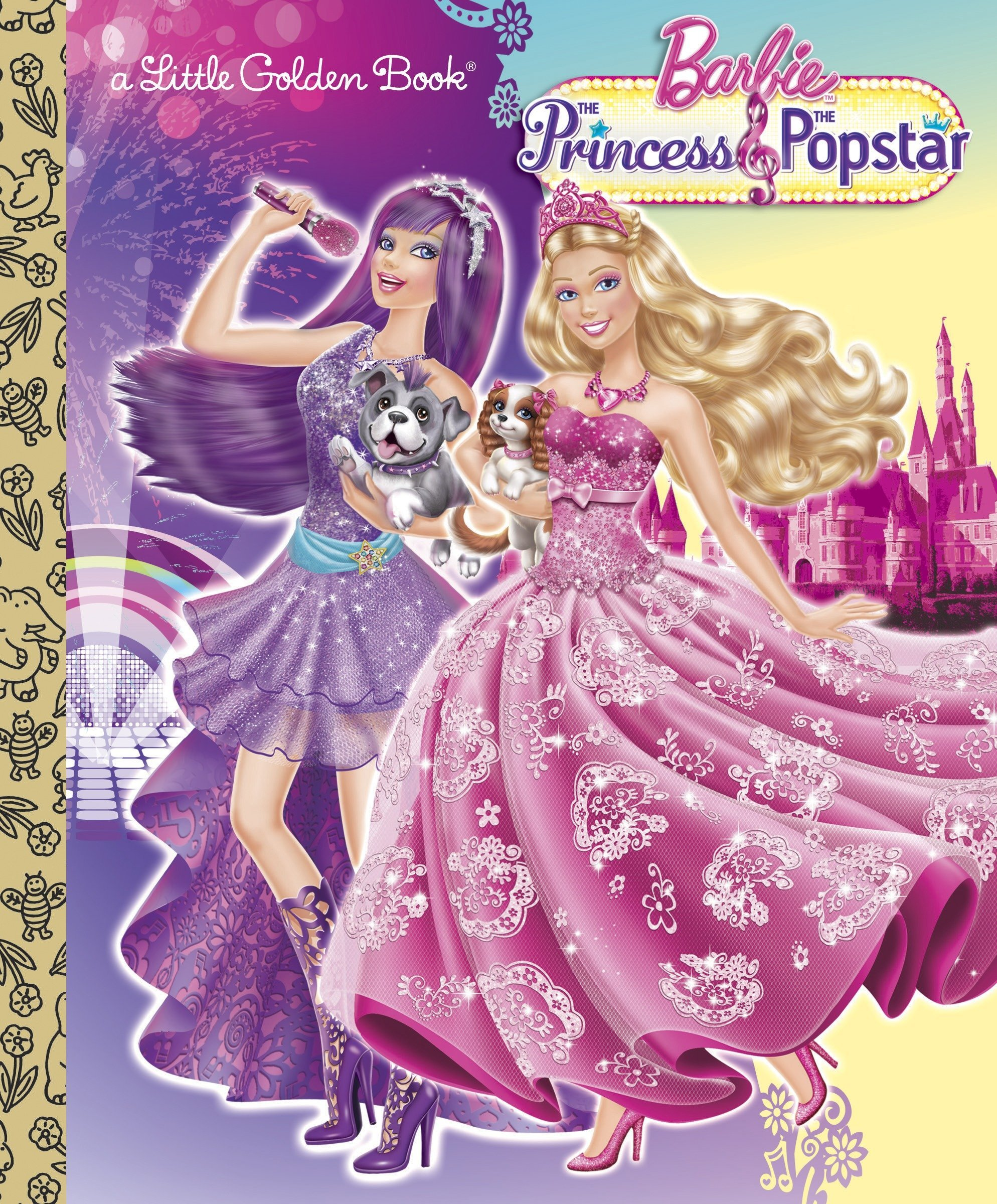 amazon com princess and the popstar little golden book barbie