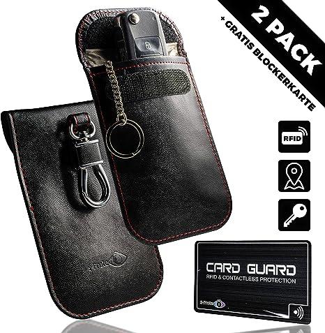 2x Keyless Go Schutz Autoschlüssel Rfid Schutzhülle Funk Abschirmung Auto Schlüssel Blocker Tasche Etui Für Autoschlussel Strahlen Diebstahlschutz Auto